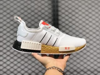 "Adidas NMD R1 ""Tokyo"" FY1159 Cloud White/Core Black-Scarlet Best Sell"