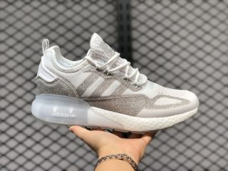 Adidas Originals ZX 2K Boost Crystal White/Silver Running Shoes FV2978