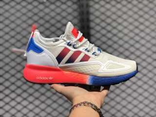 Adidas Originals ZX 2K Boost FV9996 Cloud White/Solar Red/Blue For Sale