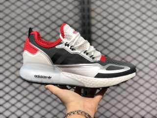 Adidas Originals ZX 2K Boost White/Black-Solar Red Running Shoes FV2976