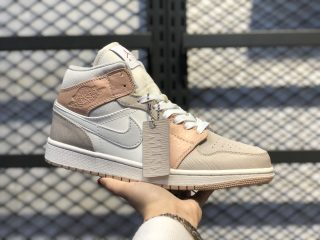 "Air Jordan 1 Mid ""Milan"" Sail/Light Bone-String-Shimmer CV3044-100"