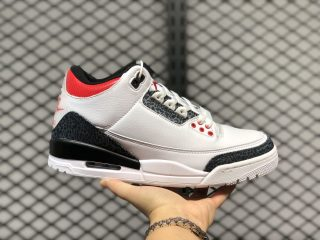 Air Jordan Retro 3 SE-T White/Fire Red-Black Basketball Shoes CZ6431-100