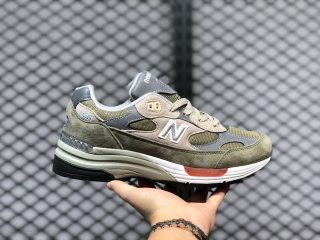 "BKAPS x New Balance 992 ""Wtaps"" Olive Grey Training Shoes M992WT"