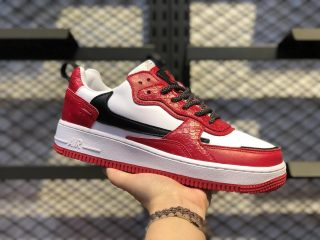 Cheap Price Nike Air Force 1 Low White/University Red-Black 630939-201