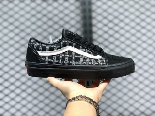 Cheap Price Supreme x Vans Old Skool Pro Black White Sneakers