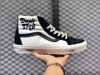"Free & Easy Vault By Vans Sk8-Hi LX ""Don't Trip"" White Navy Blue"