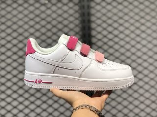 Girls Shoes Nike Air Force 1 Low Pink Peach White For Sale 898866-009
