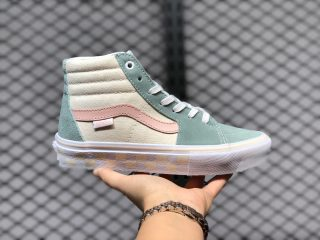 Hot Sale Vans SK8-Hi Light Sail/Greens-Pink Women's Sneakers