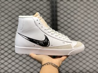 Latest Style Nike Blazer Mid 77 Sketch White Black Lifestyle Shoes CW7580-101