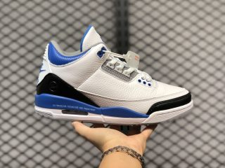 Men's Fragment Design x Air Jordan 3 White/Royal Blue For Sale CT8532-040