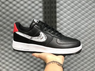 "Men's Nike Air Force 1 Low ""Sketch Pack"" Black/White-Red For Sale"