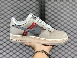 Men's Shoes Nike Air Force 1 Low Upstep Beinge Grey Red AN3355-061