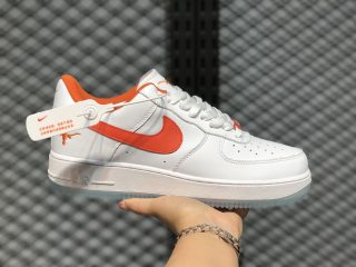 Men's Shoes Nike Air Force 1 Low White Orange In Stock CJ8596-103