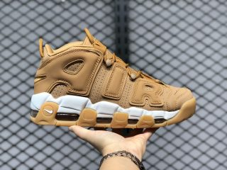 New Arrival Nike Air More Uptempo Flax Air Wheat Sneakers AA4060-200