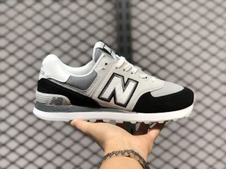 New Balance 574 Black/Grey-White Jogging Shoes New Sale ML574NLC
