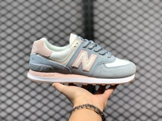 New Balance 574 Blue/Pink-White Women's Shoes Hot Sale WL574SUO