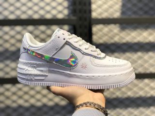 New Sale Nike Wmns Air Force 1 Shadow Cloud White/Iridescent CK3172-003