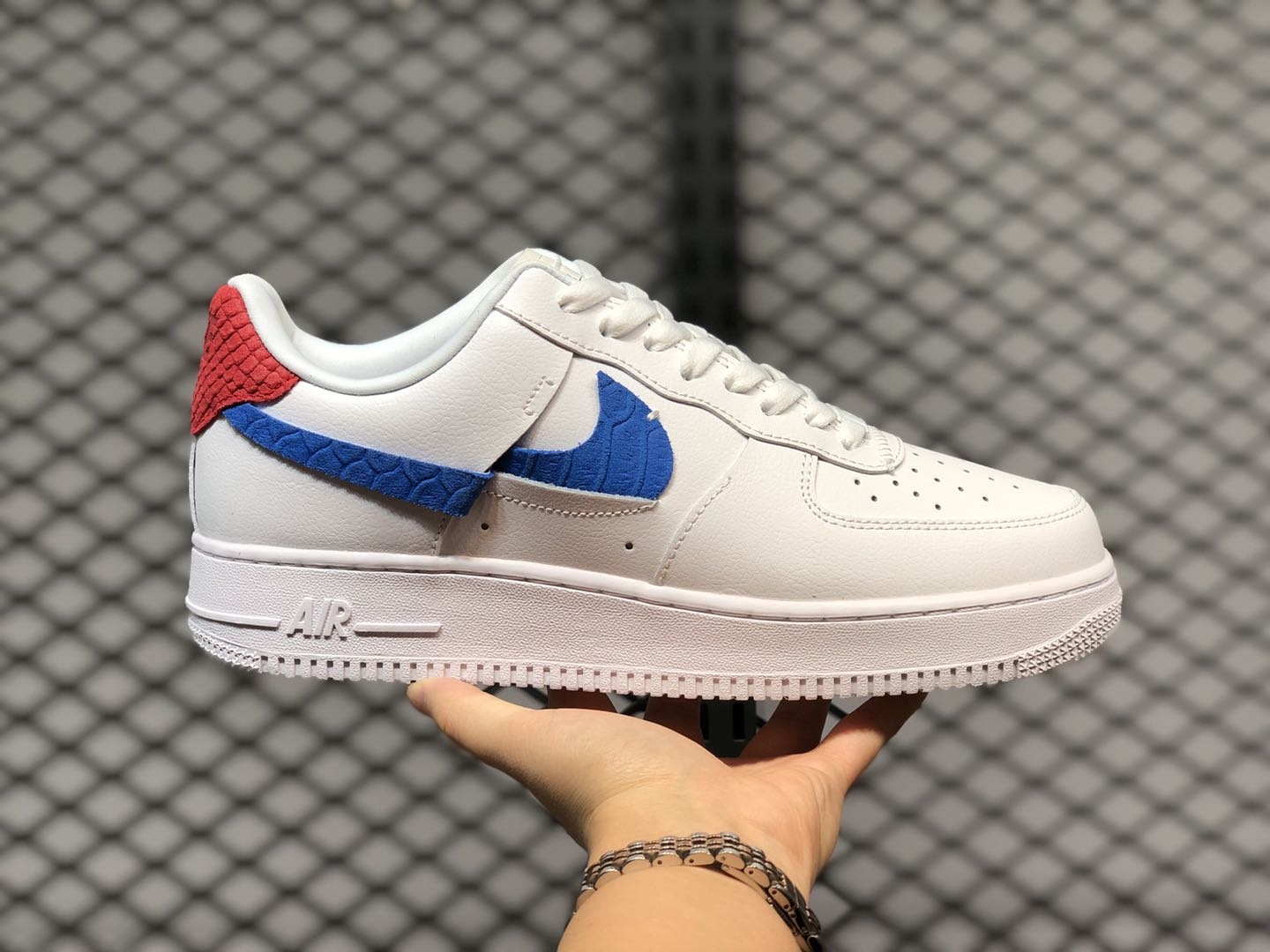 Nike Air Force 1 LXX White Red Blue