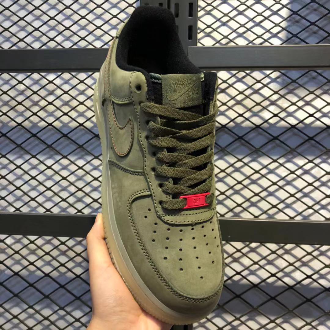 Nike Air Force 1 Low Upstep Olive Green For Sale Cj6602 255 Sneakers Big Sale