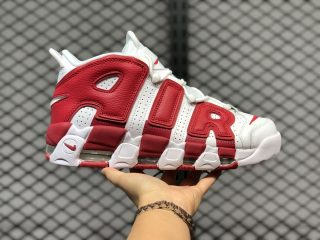 Nike Air More Uptempo White/Gym Red Sneakers For Buy 414962-100