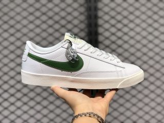 Nike Blazer Low Leather White/Forest Green-Sail Super Deals CI6377-108