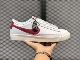 Nike Blazer Low Leather White/University Red Online Buy CI6377-102