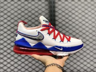 "Nike LeBron 17 Low ""Tune Squad"" White/University Red-Game Royal CD5007-100"