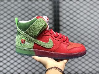 "Nike SB Dunk High ""Strawberry Cough"" University Red/Spinach Green-Magic Ember CW7903-600"