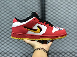 Nike SB Dunk Low Varsity Red/Earth Yellow-Black-White For Sale 309242-307