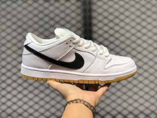 Nike SB Dunk Low White/Black-Gum Light Brown-Safety Orange CD2563-100