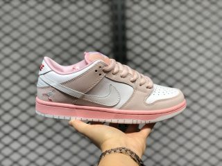 Nike Wmns SB Dunk Low Infrared Pink White Outlet Online BV1310-012