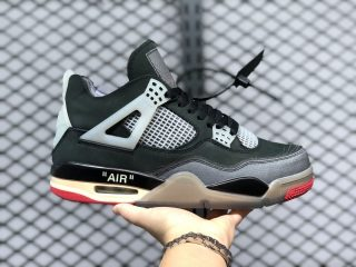 "Off-White x Air Jordan 4 ""Bred"" Black/Red Online Buy CV9388-001"