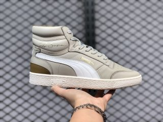 Men's Puma Ralph Sampson Mid Overcast-Gray Violet-Marshmallow 370847-06