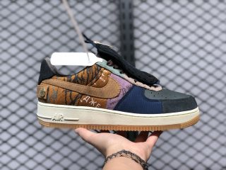 Travis Scott x Nike Air Force 1 Low Multi-Color/Muted Bronze-Fossil CN2405-900