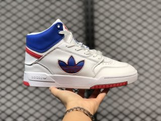 Adidas Drop Step High Sneakers Cloud White/University Blue-Gym Red FW2038