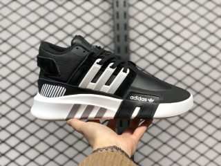 Adidas EQT Bask ADV Black/Metallic Silver-White New Sale FW4253