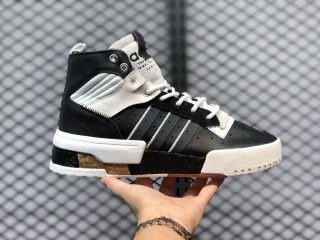 Adidas Originals Rivalry RM High FU6693 Black White Yellow Sport Shoes