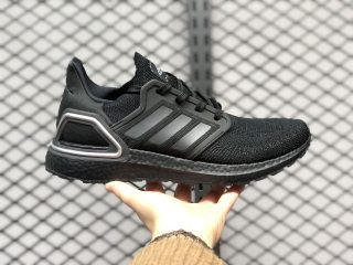 Adidas Ultra Boost 2020 Core Black-Silver Jogging Shoes H67281