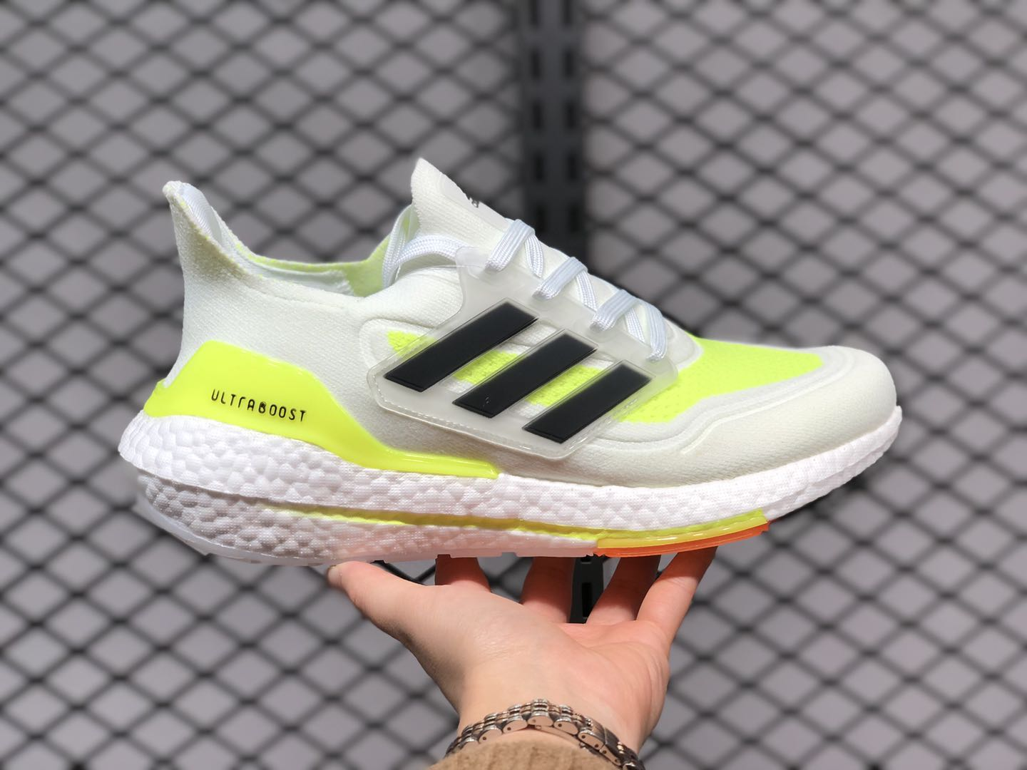 A merced de Resistente Burlas  Adidas Ultra Boost 2021 White/Yellow-Black For Sale FY0377 | Sneakers Big  Sale