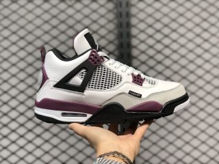 "Air Jordan 4 ""PSG"" White/Neutral Grey-Black-Bordeaux CZ5624-100"