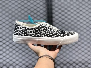 Comme Des Garcons x Vans Authentic White/Black Casual Sport Shoes