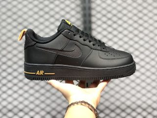 "DC1429-002 Nike Air Force 1'07 Low ""Cut-Out"" Black Orange Outlet Online"