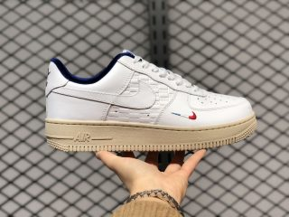 """Kith x Nike Air Force 1 Low """"France"""" CZ7927-100 White/Navy Blue"""
