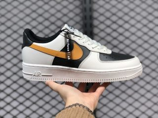 New Sale Nike Air Force 1 Low Cloud White/Black-Yellow AQ4134-403