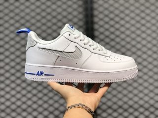 New Sale Nike Air Force 1'07 Cut Out Swoosh White Royal Blue DC1429-100