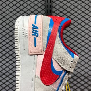 Nike Air Force 1 Shadow Cu8591 100 Sail University Red Blue Sneakers Big Sale This pair goes with the popular sail and university red color scheme suited for the hot months ahead. www ricosi com