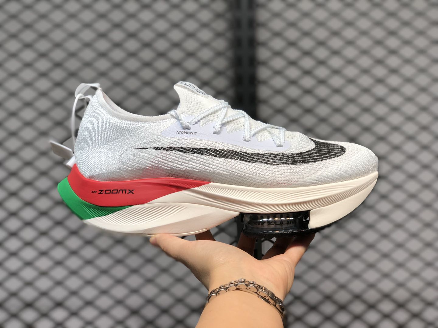 2020 Nike Air Zoom Alphafly NEXT% White/Red-Green CI9925-159 ...