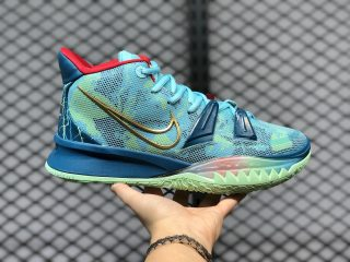 Nike Kyrie 7 Bleached Aqua/Metallic Gold-Green Abyss DC0588-400