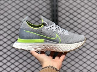 New Nike React Infinity Run Flyknit Particle Grey/Volt CD4371-008