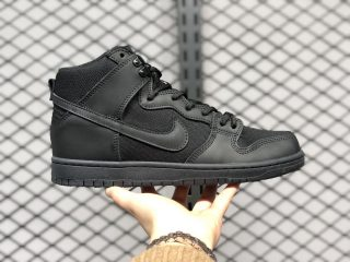"Nike SB Dunk High ""Triple Black"" 923110-001 Men's Training Shoes"